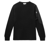 Sling Faille-panelled Cotton-jersey Sweatshirt