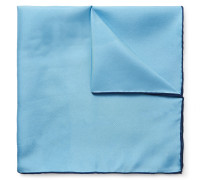 Contrast-tipped Silk-twill Pocket Square