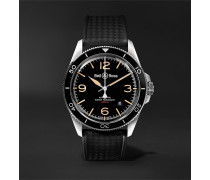 BR V2-92 Steel Heritage Automatic 41mm Stainless Steel and Rubber Watch, Ref. No. BRV292-HER-ST/SRB