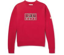Logo-detailed Loopback Cotton-jersey Sweatshirt - Red