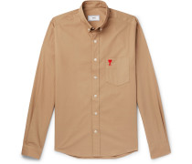 Slim-fit Button-down Collar Cotton Oxford Shirt - Brown