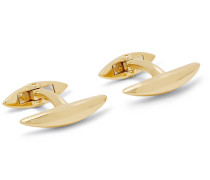 Arc Gold-plated Cufflinks - Gold