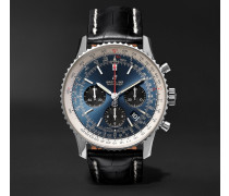 Navitimer 8 B01 Chronometer 43mm Stainless Steel And Alligator Watch
