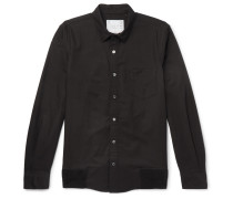 Rib-trimmed Cotton Oxford Shirt