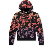 Printed Fleece-Back Cotton-Jersey Hoodie