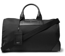 Sartorial Jet Cross-grain Leather-trimmed Shell Duffle Bag - Black