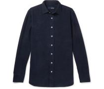 Slim-fit Cotton-corduroy Shirt - Midnight blue