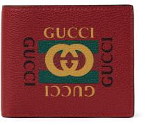 Printed Full-grain Leather Billfold Wallet