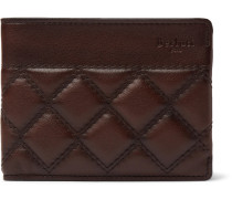 Quilted Leather Billfold Wallet