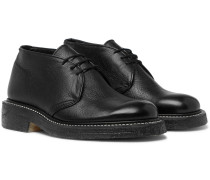 Winston Textured-leather Chukka Boots - Black