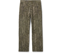Camouflage-Print Cotton-Canvas Cargo Trousers