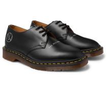 + Dr. Martens 1461 Printed Leather Derby Shoes - Black