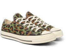 + Wacko Maria Invincible Leopard-Print Canvas Sneakers
