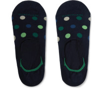 Invisible Touch Polka-Dot Stretch Pima Cotton-Blend No-Show Socks