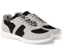 Valentino Garavani Soul Am Suede And Mesh Sneakers