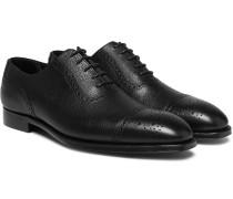 Adam Pebble-grain Leather Oxford Brogues - Black