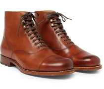 Leander Cap-toe Burnished-leather Boots