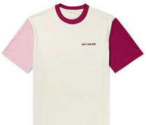 Logo-Embroidered Colour-Block Jersey T-Shirt