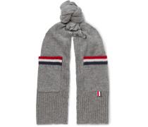 Striped Shetland Wool Scarf