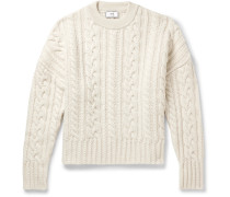 Oversized Cable-Knit Wool Sweater