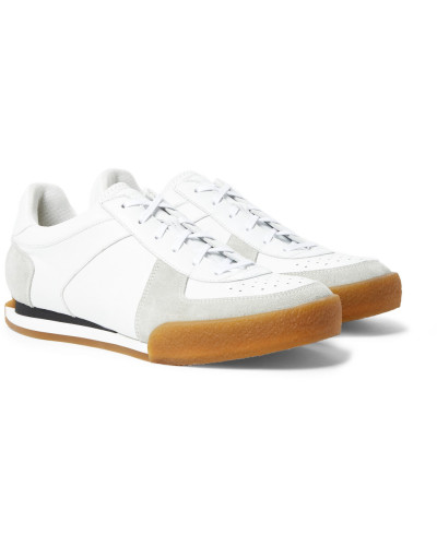 Set3 Full-grain Leather And Suede Sneakers