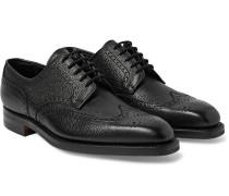 Henry Pebble-grain Leather Wingtip Brogues - Black