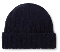 Cable-Knit Merino Wool Beanie