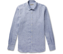 Slim-Fit Slub Linen Shirt