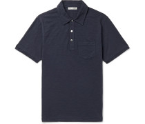 Slim-Fit Slub Cotton-Jersey Polo Shirt