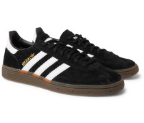 Handball Spezial Leather-trimmed Suede Sneakers - Black