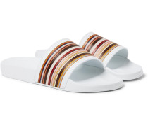 Ruben Striped Rubber Slides
