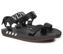 Valentino Garavani Logo-print Webbing Sandals