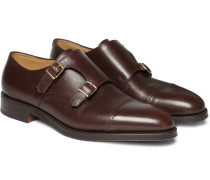 William Leather Monk-strap Shoes - Brown