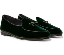 Marphy Velvet Loafers - Dark green