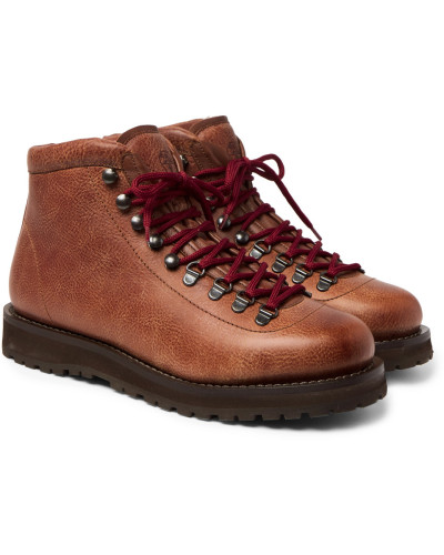Shearling-lined Leather Boots