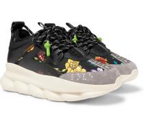 Chain Reaction Panelled Neoprene Sneakers - Black