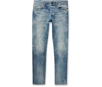 The Cast 2 Slim-Fit Distressed Washed Denim Jeans