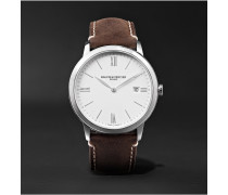 My Classima 40mm Stainless Steel and Leather Watch, Ref. No. 10389 cons