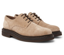 Suede Derby Shoes - Neutral