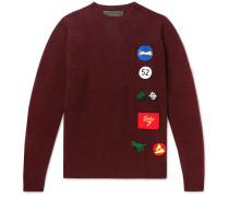 Chenille-Appliquéd Cashmere Sweater