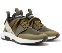 Jago Neoprene, Suede and Mesh Sneakers