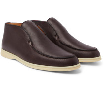 Open Walk Full-grain Leather Boots - Brown