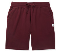 Loopback Cotton-jersey Drawstring Shorts - Burgundy