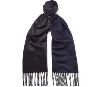 Silk And Cashmere-blend Scarf - Navy