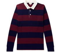 Striped Cotton-jersey Polo Shirt