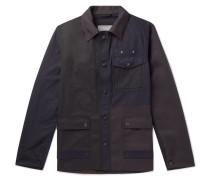 Patchwork Cotton Jacket - Navy