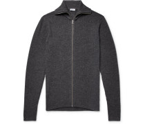 Jonah Slim-fit Wool And Cashmere-blend Zip-up Cardigan