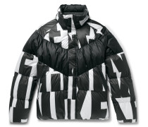 Sportswear Quilted Printed Shell Down Jacket - Black