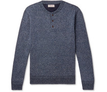 Wallace & Barnes Mélange Silk and Cotton-Blend Henley Sweater