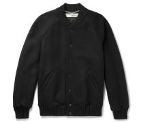 Printed Wool-blend Bomber Jacket